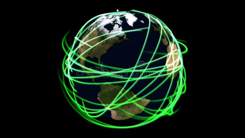Visualização da terra ilustração royalty free