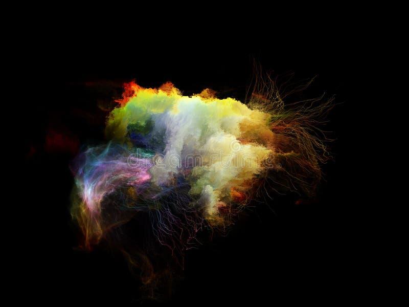 Visualização de medusa do Fractal fotografia de stock