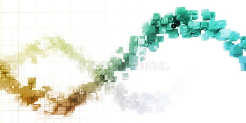Visualização dos dados ilustração royalty free
