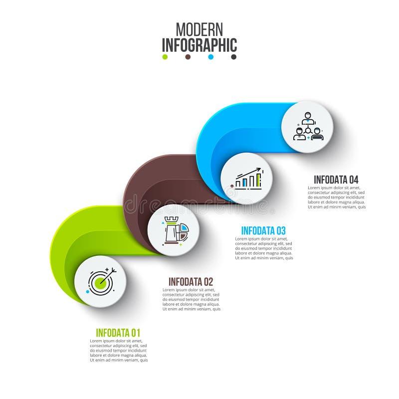 Visualização dos dados comerciais ilustração stock
