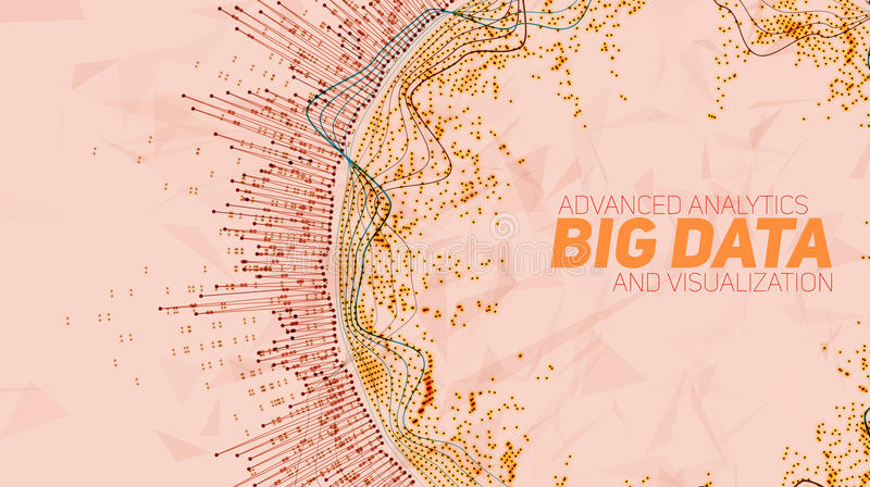 Visualização grande da circular dos dados Infographic futurista Projeto estético da informação Complexidade de dados visual ilustração royalty free
