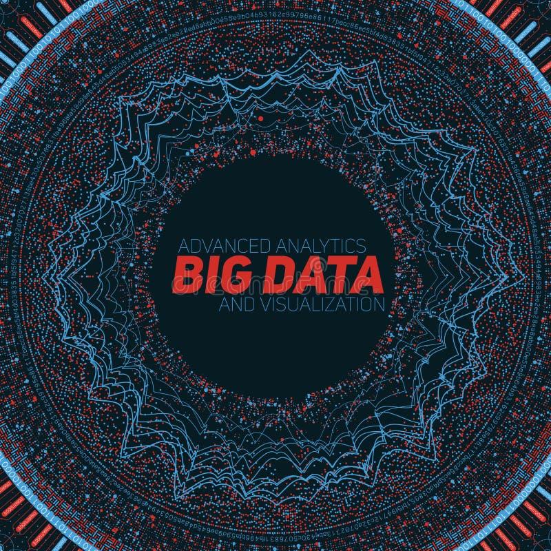 Visualização grande da circular dos dados Infographic futurista Projeto estético da informação Complexidade de dados visual ilustração stock