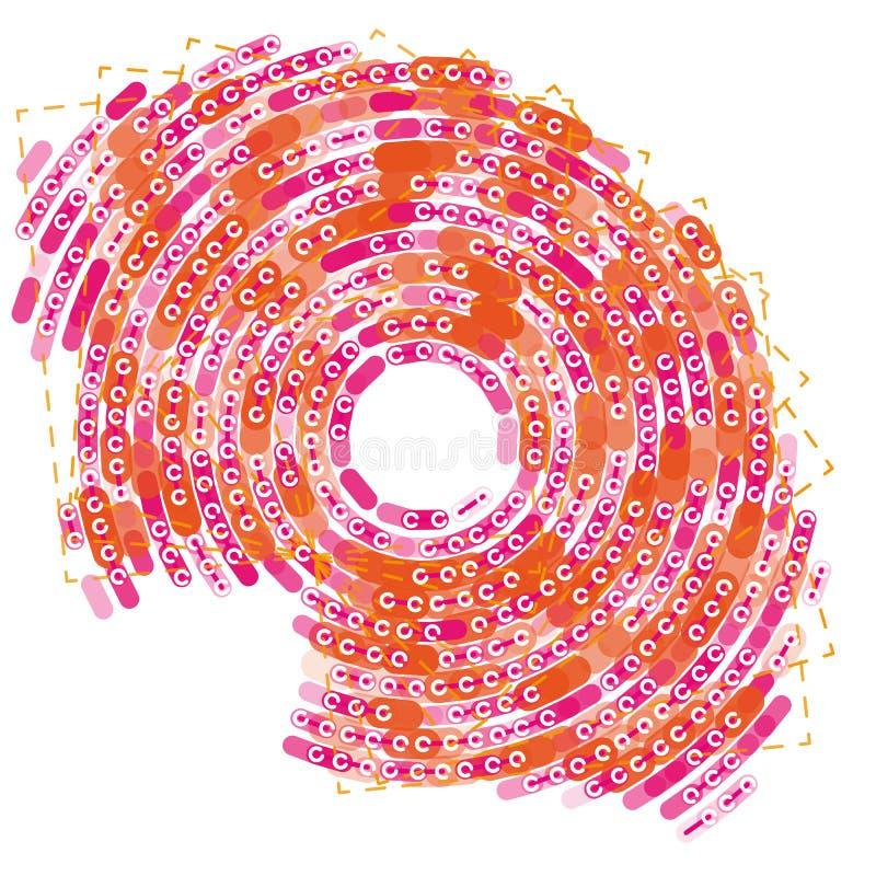 Visualização grande do radial dos dados Infographic futurista no branco ilustração stock