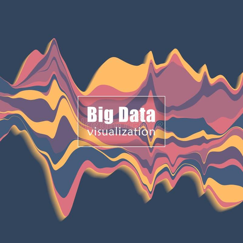 Visualização grande dos dados Gráfico do córrego Ilustração do vetor ilustração stock