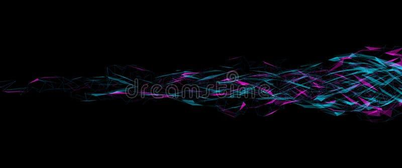 Visualização grande dos dados Infographic futurista Os dados complexos rosqueiam o visualização gráfico ilustração do vetor