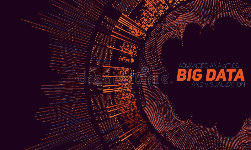 Visualização grande dos dados Infographic futurista Projeto estético da informação Complexidade de dados visual ilustração royalty free