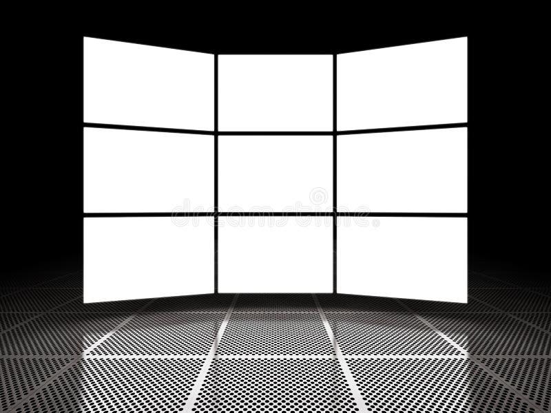 Visualizações ópticas claras vazias ilustração do vetor