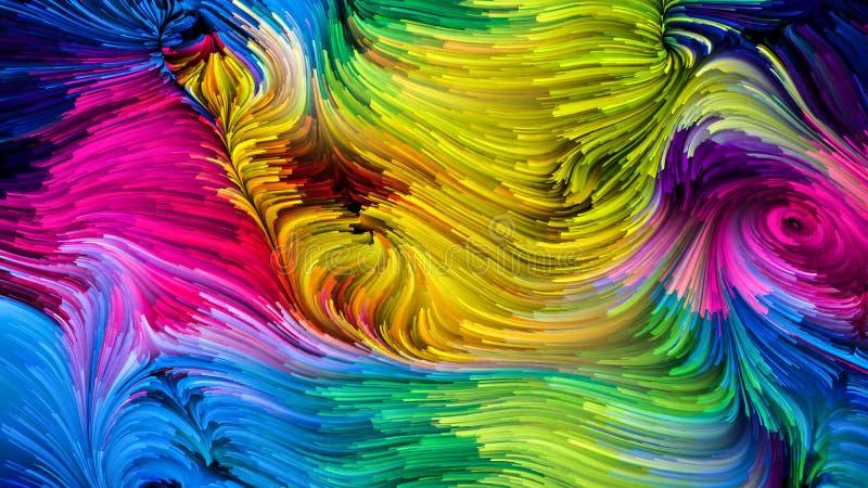 Visualiza??o da pintura colorida ilustração do vetor