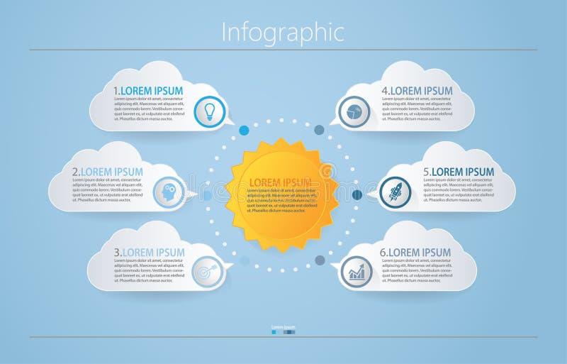 Visualiza??o dos dados comerciais ?cones infographic do espa?o temporal projetados para o molde abstrato do fundo fotografia de stock