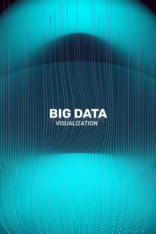 Visualiza??o grande dos dados informa??o 3D futurista ilustração royalty free
