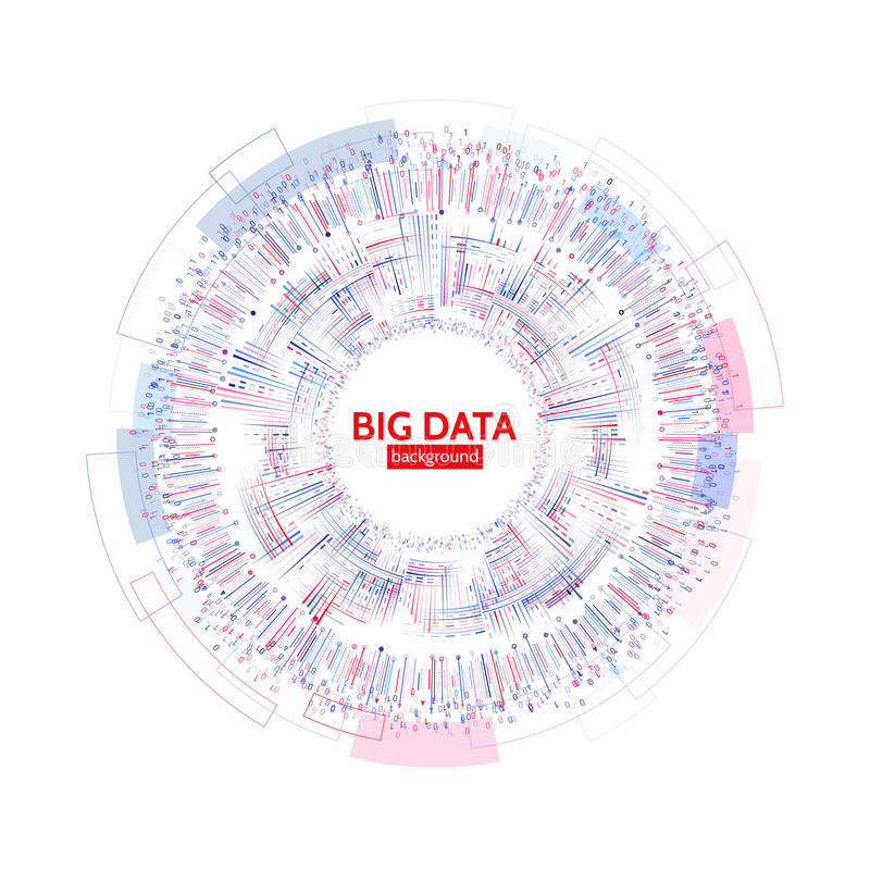 Visualización abstracta de los datos de negocio Concepto futurista de la transmisión informativa Complejidad de datos visual stock de ilustración