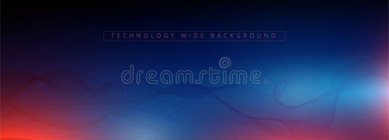 Visualización abstracta del neón de la tecnología 3d y de la ciencia r Papel pintado de Digitaces Concepto del asunto Dat grande stock de ilustración