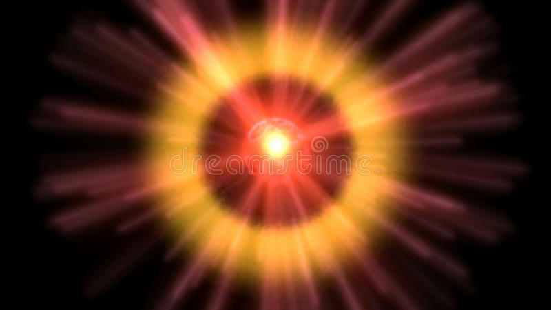 Visualización cósmica ilustración del vector