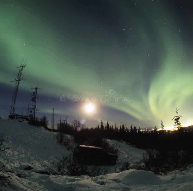 Visualización de Borealis de la aurora fotografía de archivo