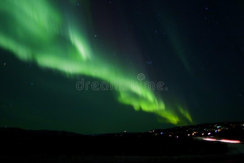 Visualización de la aurora imagenes de archivo