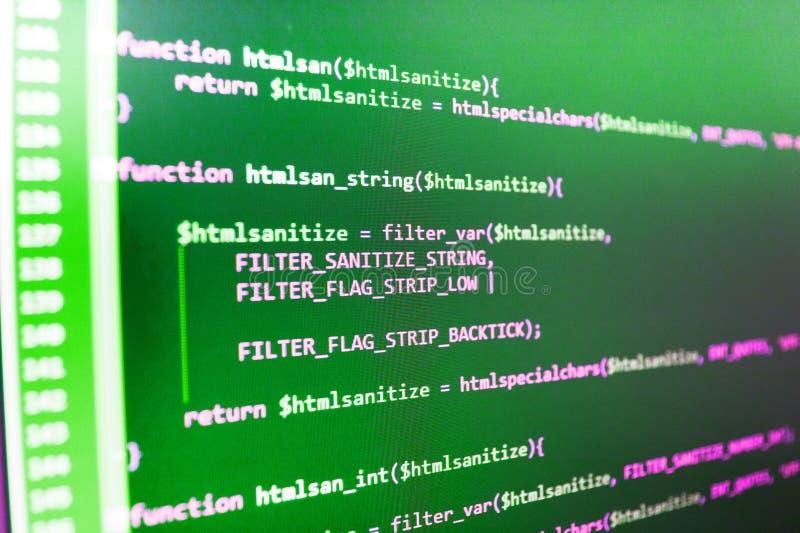 Visualización de la corriente del acceso de los pedazos de la base de datos Programación del sitio web de Internet fotos de archivo libres de regalías