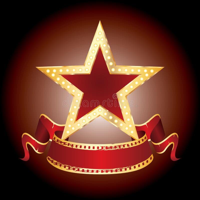 Visualización de la estrella stock de ilustración