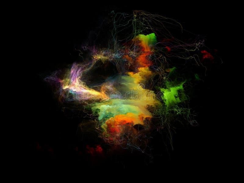 Visualización de la nebulosa del fractal libre illustration