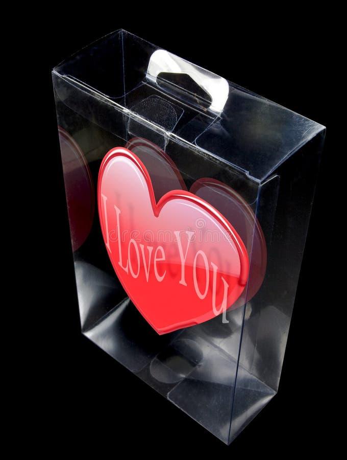 Visualización de la tarjeta del día de San Valentín imágenes de archivo libres de regalías