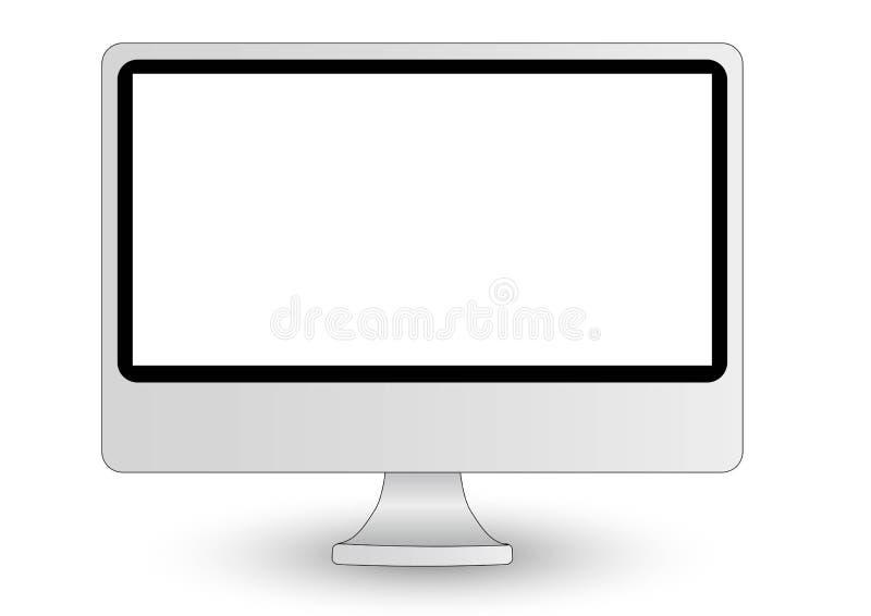 Visualización de ordenador de Imac imagen de archivo