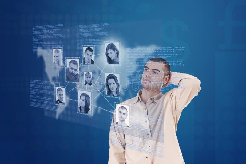 Visualización del interfaz de red foto de archivo