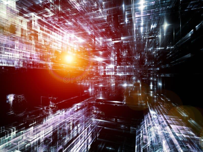 Visualización del mundo del fractal stock de ilustración