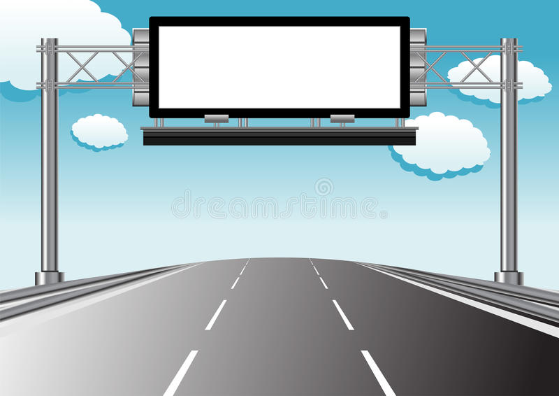 Visualización informativa de la carretera libre illustration