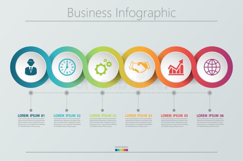 Visualizaci?n de los datos de negocio iconos infographic de la cronolog?a dise?ados para la plantilla abstracta del fondo libre illustration