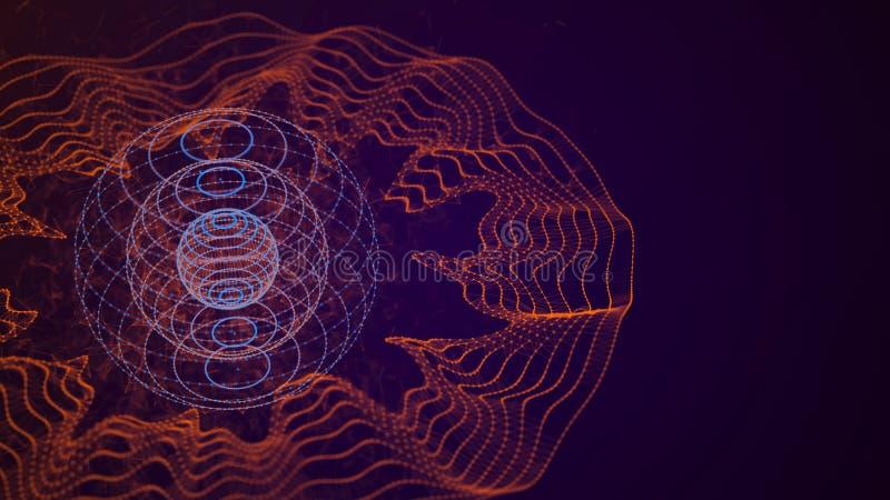 Visualizaci?n grande de los datos Concepto de la representaci?n visual del arsenal de datos abstraiga el fondo Visualización de l libre illustration