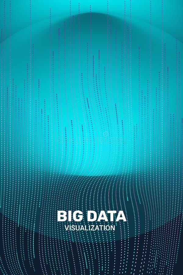 Visualizaci?n grande de los datos informaci?n futurista 3D ilustración del vector