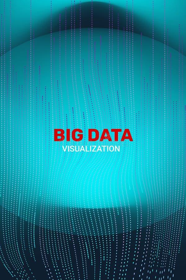 Visualizaci?n grande de los datos informaci?n futurista 3D stock de ilustración