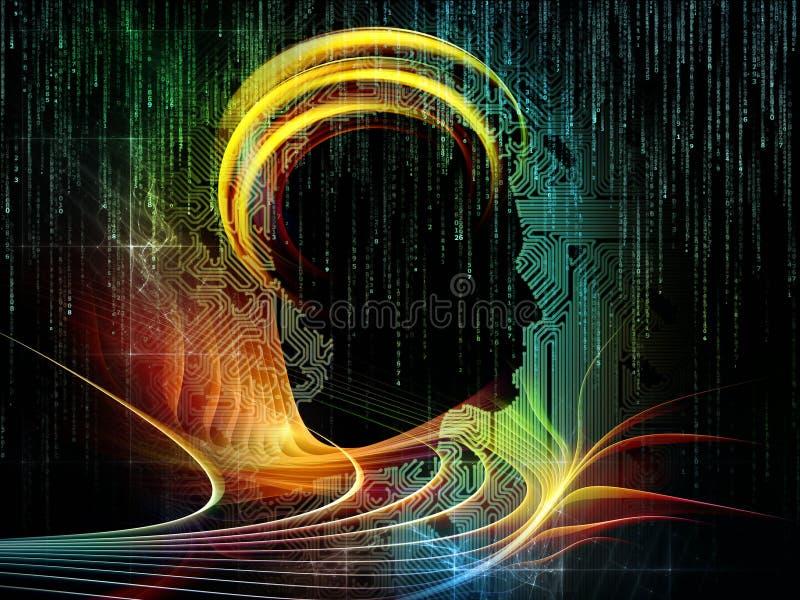 Visualization of Circuit Intelligence royalty free illustration