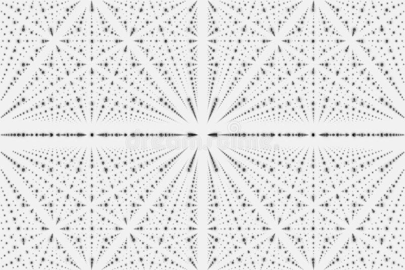 Visualization för matris för vektoroändlighetsdata Stor datastruktur för gråton med binärt nummergaller vektor illustrationer