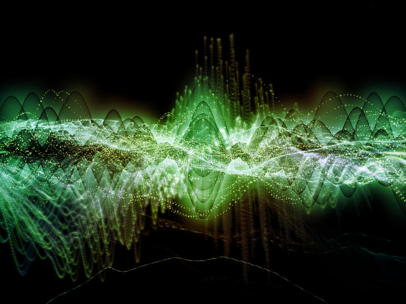 Visualization of Sound Wave vector illustration