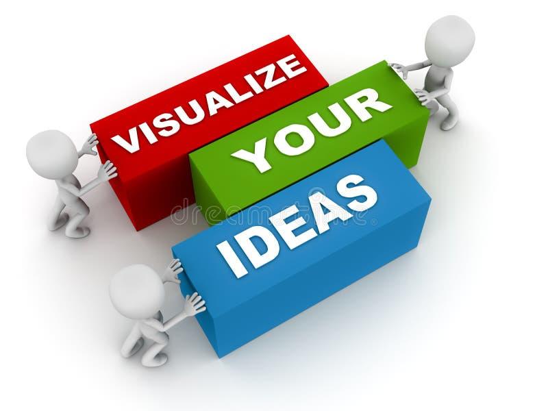 Visualize ideias ilustração royalty free