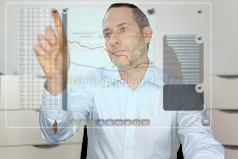 Visualizzatore del computer futuro immagini stock