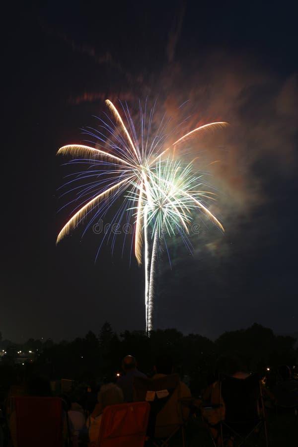 Visualizzazione 001d del fuoco d'artificio fotografia stock