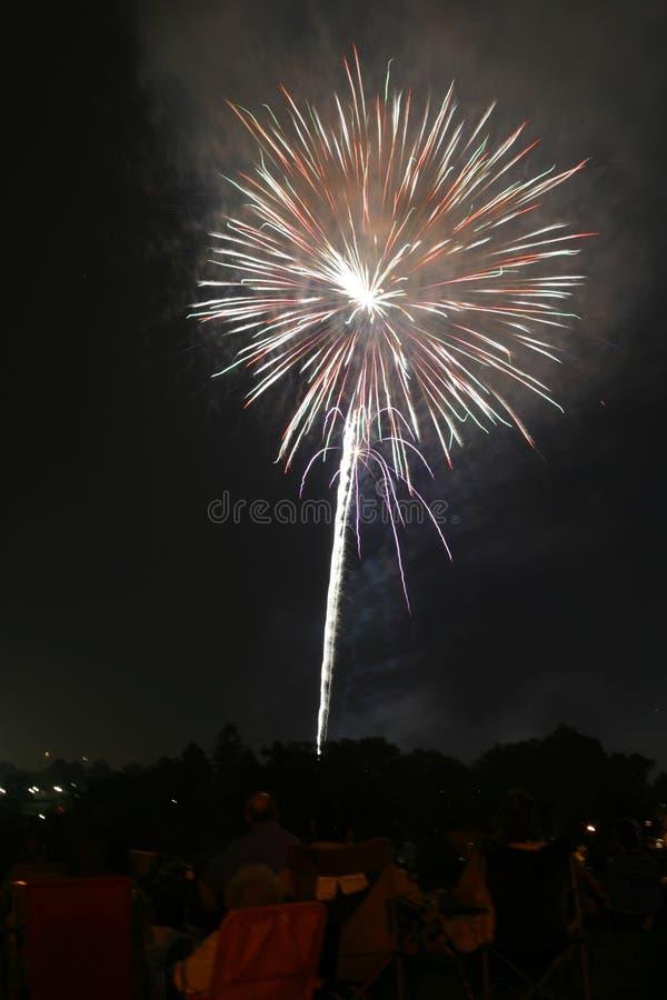 Visualizzazione 001e del fuoco d'artificio fotografia stock