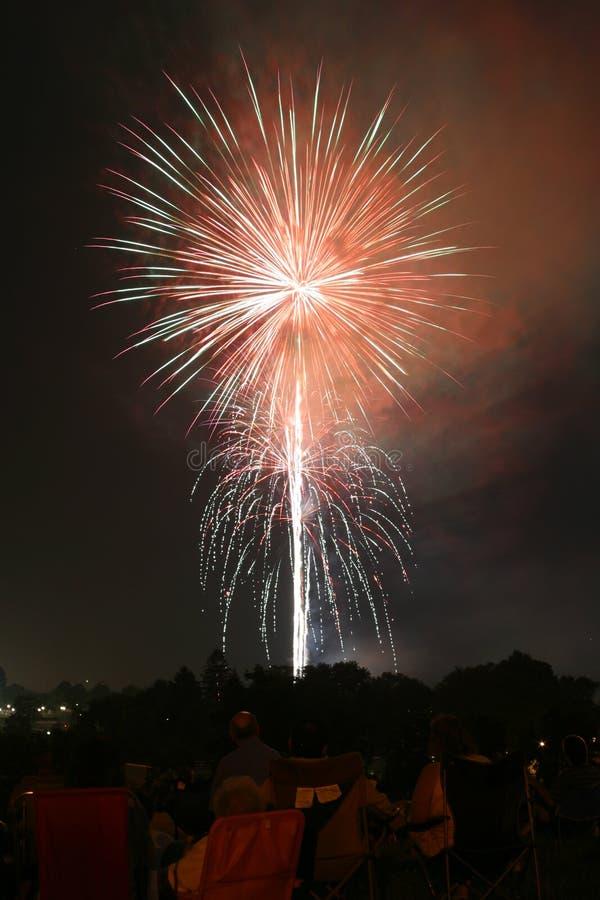 Visualizzazione 001f del fuoco d'artificio immagini stock