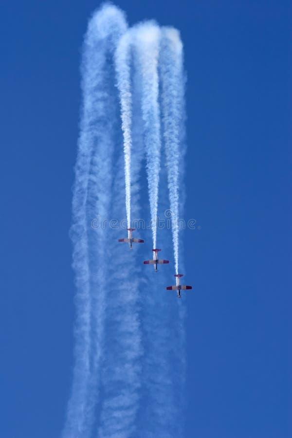 Visualizzazione Aerobatic immagini stock