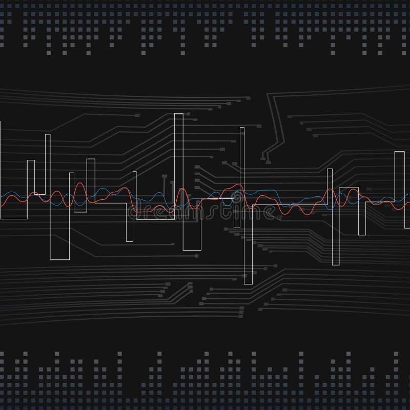 Visualizzazione astratta di dati di vettore Progettazione futuristica di infographics Complessità visiva di informazioni Fili com illustrazione di stock