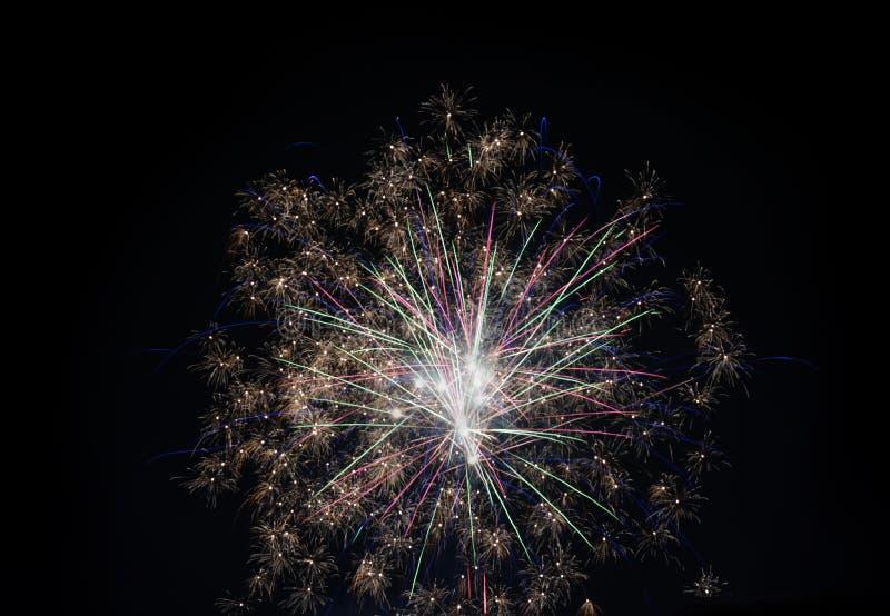 Visualizzazione dei fuochi d'artificio immagini stock libere da diritti