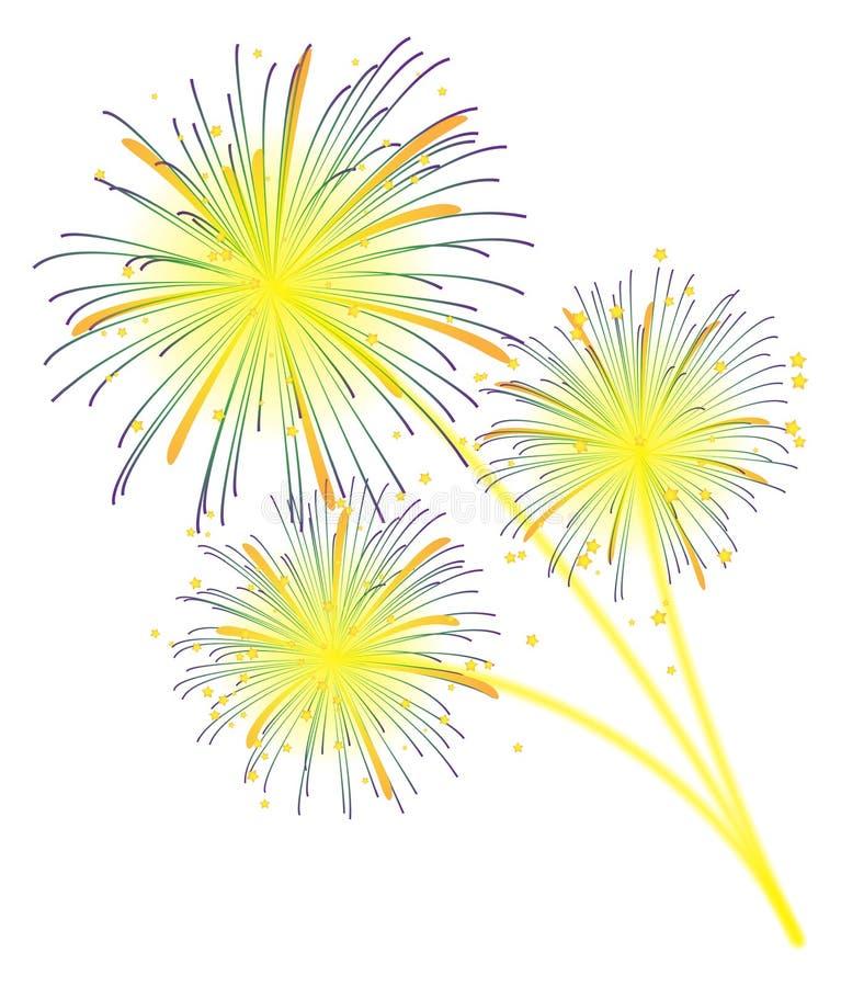 Visualizzazione dei fuochi d'artificio illustrazione vettoriale