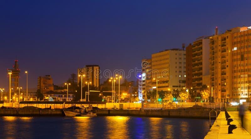 Download Visualizzazione Del Babordo A Algesiras Nella Notte Fotografia Stock - Immagine di penombra, seafront: 56877554