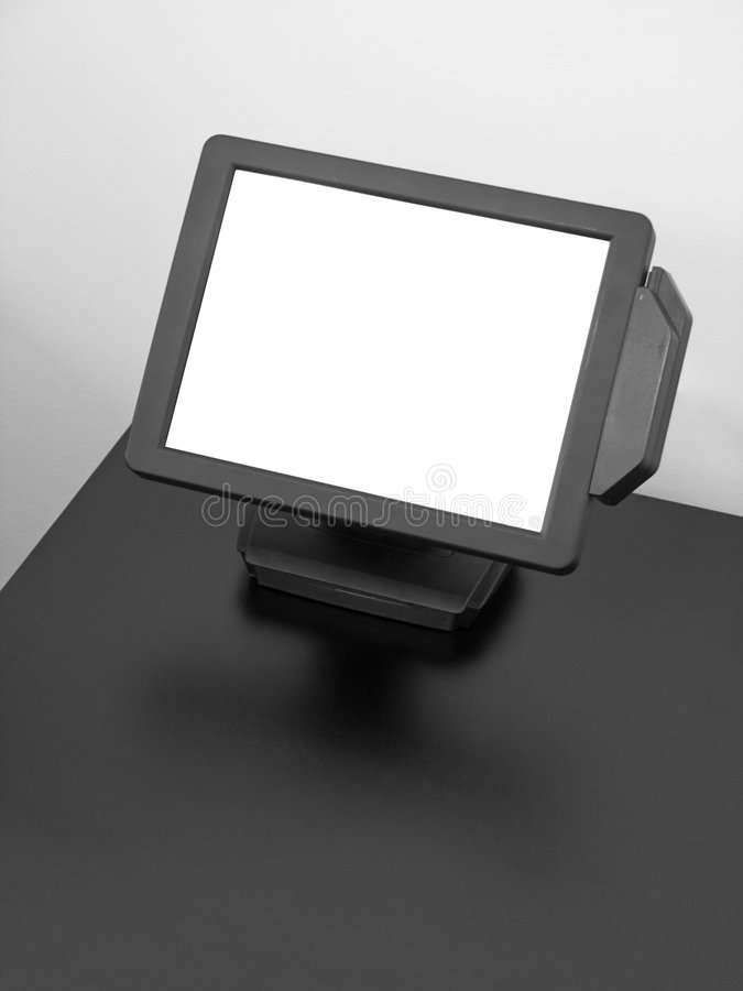 Visualizzazione dell'affissione a cristalli liquidi dello schermo attivabile al tatto fotografia stock