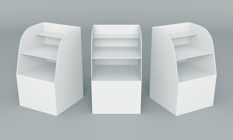 visualizzazione della casella 3D illustrazione di stock