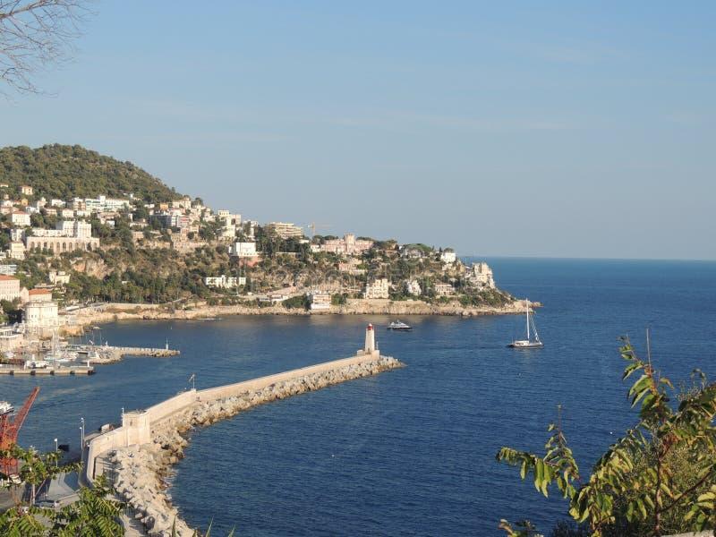 Visualizzazione della porta di Nizza, Cote d'Azur fotografia stock