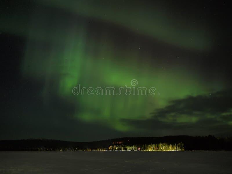 Visualizzazione di borealis dell'aurora immagine stock libera da diritti
