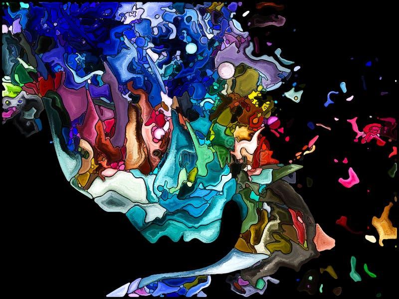 Visualizzazione di frammentazione di auto illustrazione di stock