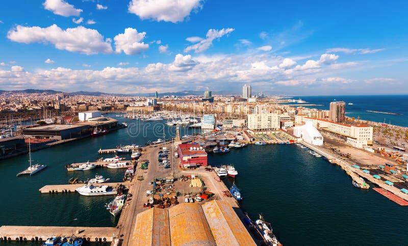 Visualizzazione superiore di porta Vell. Barcellona fotografia stock libera da diritti